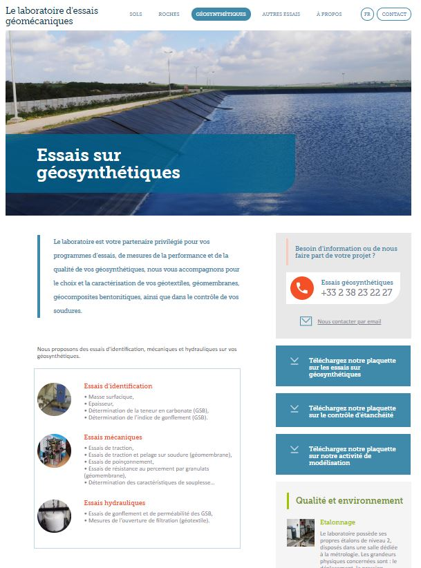 Cas client Naes - Site Géomecalab