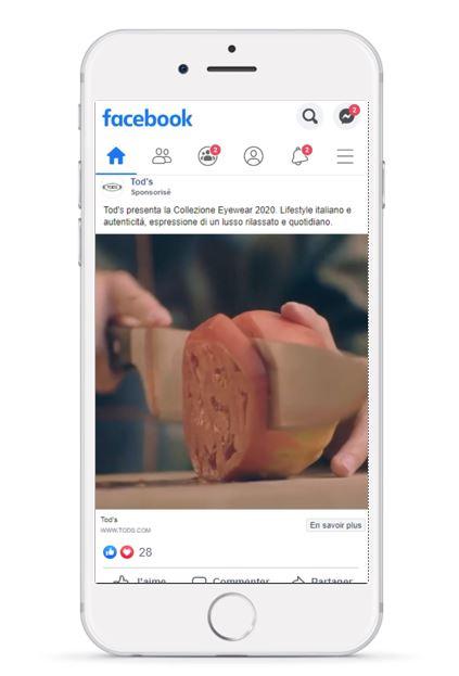 Naes Agence Web Paris - Comment optimiser vos publicités Facebook Instagram - Exemple Tod's