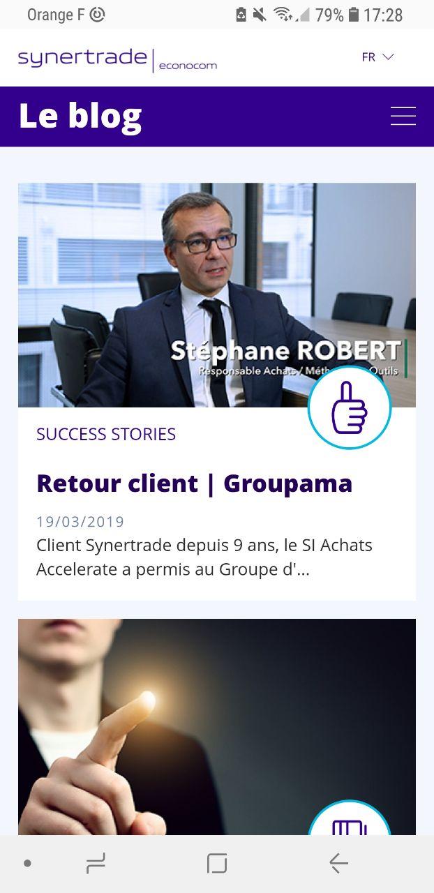 Cas client Naes - Nouveau blog Synertrade HP mobile