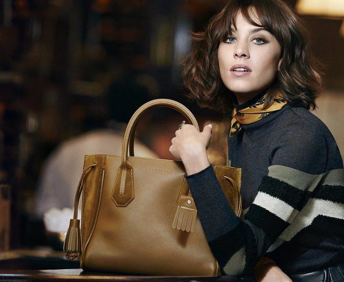 Caes client Naes - Longchamp - visuel Alexa Chung Pénélope